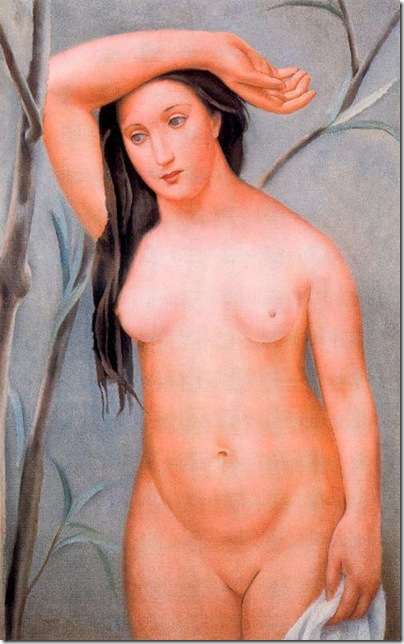 Josep de Togores i Llach - Desnudo con el brazo levantado _1922