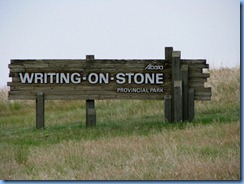 1816 Alberta - Writing-On-Stone Provincial Park sign
