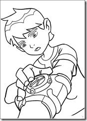 desenhos para colorir do Ben 10 omnitrix