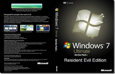 Windows 7 Ultimate SP1 Resident Evil Cover