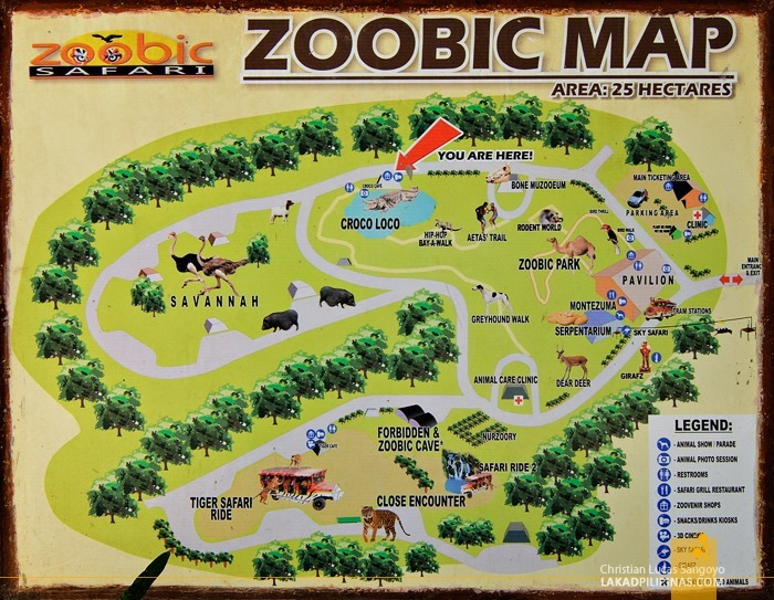 Subic's Zoobic Safari Map