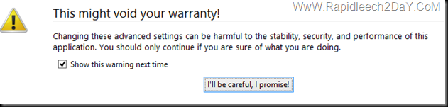Firefox-warning-I'll be careful, I promise!