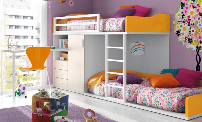Habitaciones infantiles con literas un espacio para compartir - Habitaciones juveniles literas ...