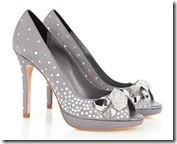 Karen Millen Metallic Jewel Pump