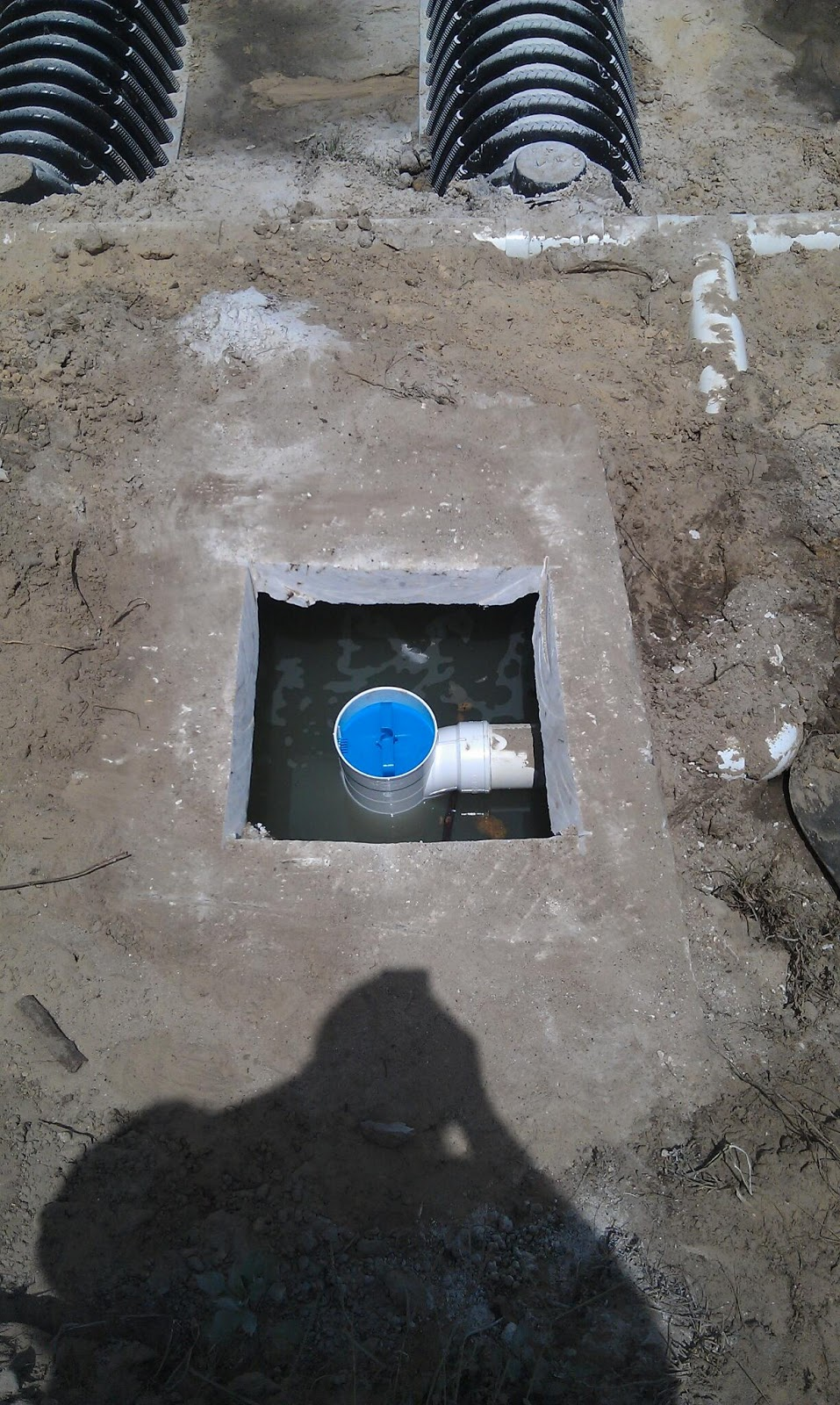 does your septic tank or drainfield back up into the house