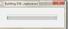 สถานะการแปลงไฟล์วีดีโอเป็น exe