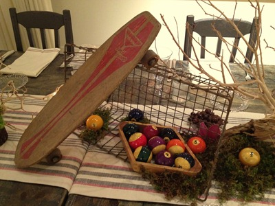 Hello Darling - Organic   Vintage Sports Bar Mitzvah, skateboard on crate