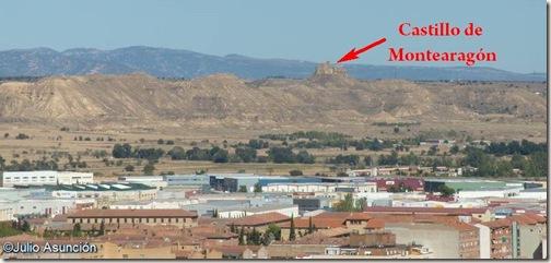 Panorámica desde la torre de la Catedral de Huesca - Castillo de Montearagón