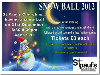 snow ball flyer