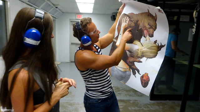 werewolf as target practice at the Niagara Gun Range in North Tonawanda, New York, United States
