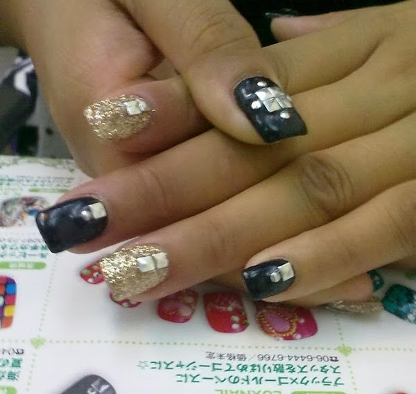 Nail Designs With Studs Nail Designs Hair Styles Tattoos And