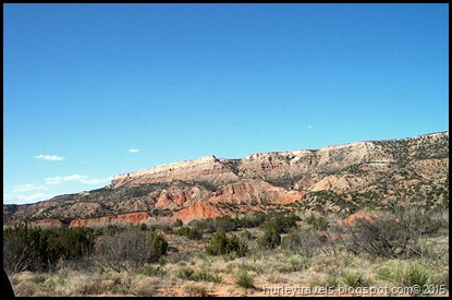 Scenery around us as we parked at the campground in Palo Duro Canyon State Park in Texas.