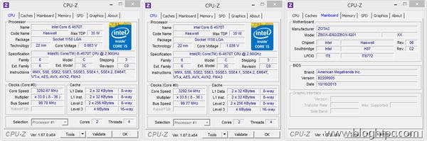 Zotac Zbox ID92 cpuz