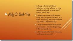 errands quick tips