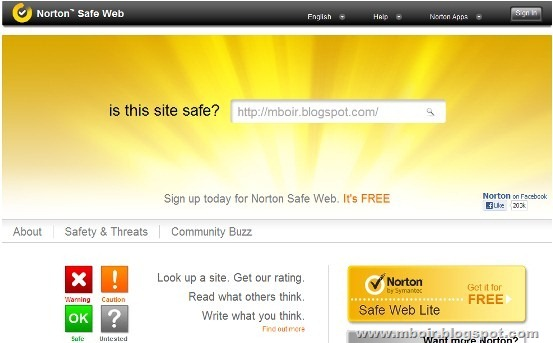 Norton Safe Web mboir