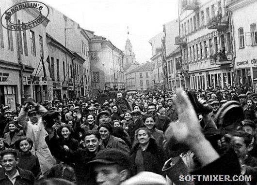 zhiteli Vilno vstrechajut Krasnuju Armiju 1939