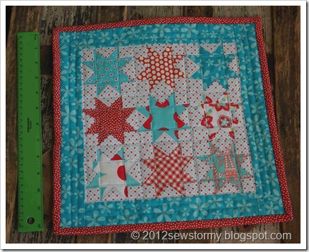 Mini Star Quilt Size