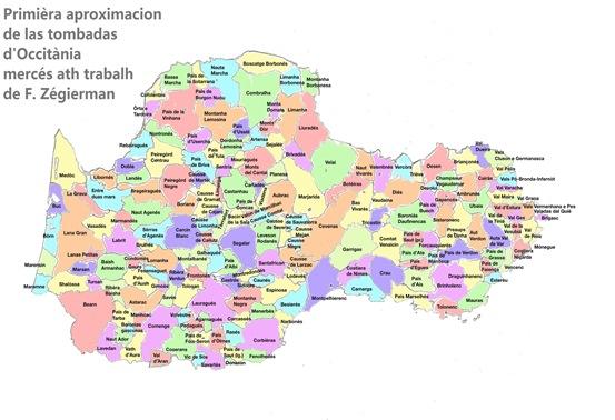 mapa Occitània per Tombada