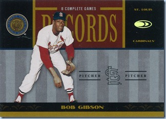 2004 Donruss WS Records Gibson 205 by 1000