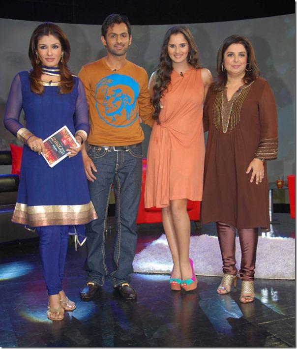 """Shoaib Malik and Sania Mirza on Raveena's show """"Isi ka Naam Zindagi Hai""""Hai-4"""