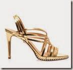 Diane von Furstenberg Strappy Gold Sandals