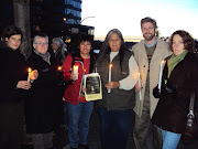 Victoria city councillors join activist Rose Henry at vigil to remember members of Victoria's street community who passed away in 2011