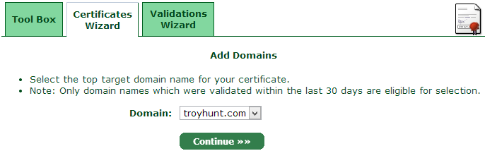 Adding a domain