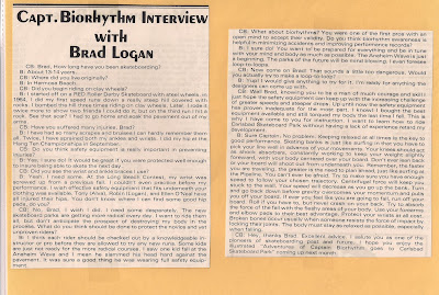 Having a conversation with Brad Logan.