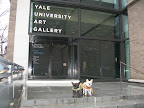 Here we are at the entrance to the Yale University Art Gallery. The weather was cold and wet.