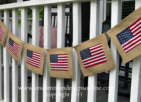 Uncommon 4th of july burlap banner 2 2011