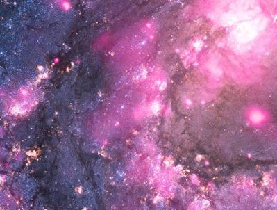composição em raios X e óptico no interior da M83