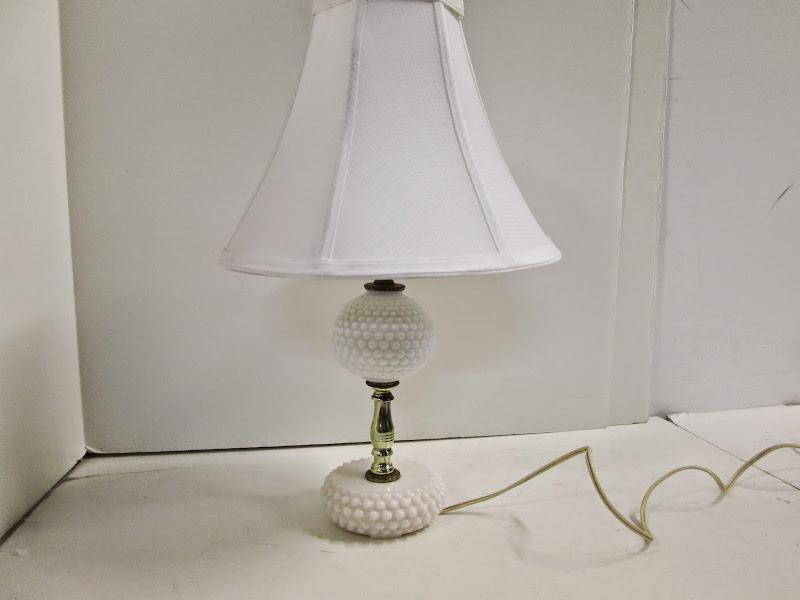 Milk Glass Urchin Lamp
