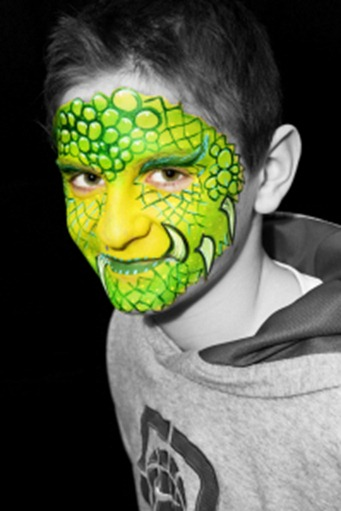 facepainted dragon