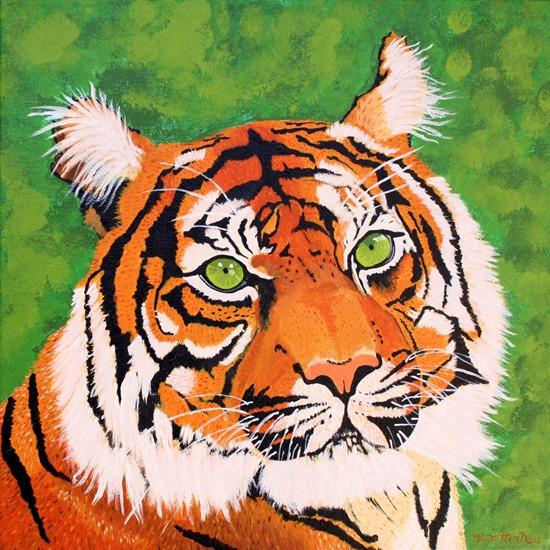 vicki maheu tiger painting