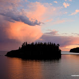 Ellingson Island at Sunset / Split Rock Lighthouse State Park / Minnesota