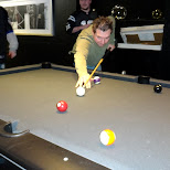 a game of pool in Mississauga, Ontario, Canada