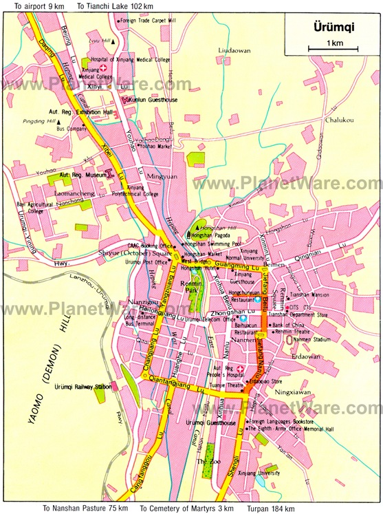 urumqi-map