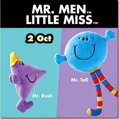 McDonalds X Mr. Men Little Miss -  Mr Rush and Mr. Tall