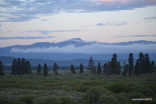 Low clouds over the mountains