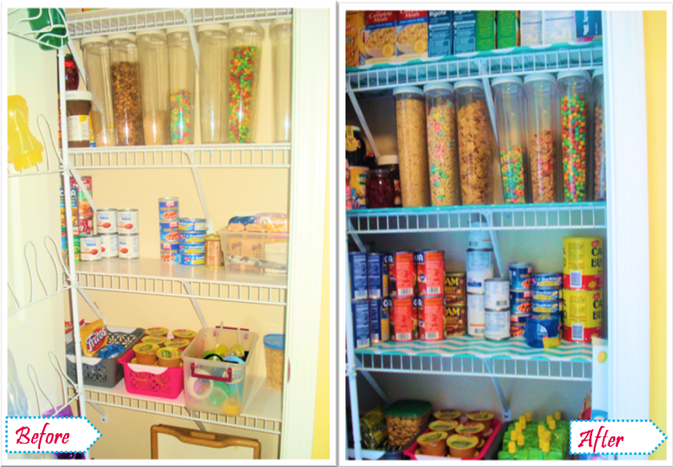 before after pantry