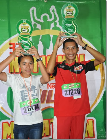 1 - Veteran athlete Juneil Languido and female counterpart Cresabel Cadion trounced their running contenders at the tenth quali