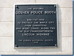 4220 Indiana - Goshen, IN - Lincoln Highway  (Main St)(US-33) - 1939 Historic Goshen Police Booth