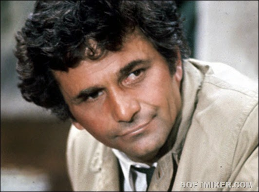 COLUMBO -- Sleuth Series -- Pictured: Peter Faulk as Lt. Frank Columbo -- Sleuth Photo  <br />