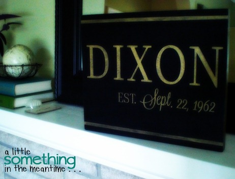 Dixon Sign Mantel Orton WM