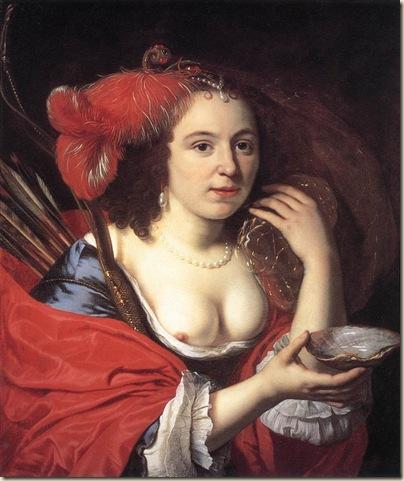 Bartholomeus Van der Helst, Portrait de jeune femme avec coquillage