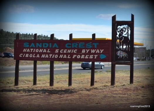The Drive to Sandia Peak