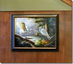 Painting in Crown Club lobby