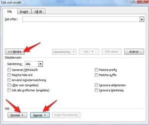 Windows Word Sök Ersätt