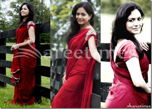 Sunitha_Red_Saree