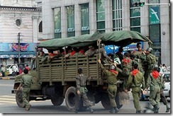 Burmese troops during referendum 2008